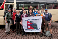 The trekking team in front of our bus